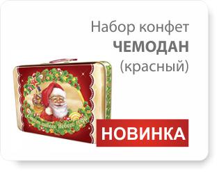Новинка! Набор конфет Чемодан красный